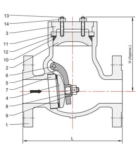 pressure-seal-swing-check-valve-drawing